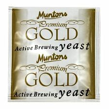 Muntons Gold beer brewing yeast for home brew beers.
