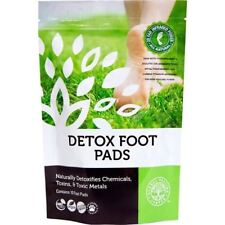 DETOX FOOT PADS Naturally Detoxifies Chemical Toxins & Toxic Metals 10 Pads