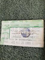 """2 GIANTS"" MOTLEY CRUE & THE SCORPIONS '99 MAXIMUM ROCK TOUR Concert Ticket Stub"