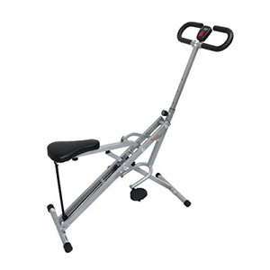 Sunny Health & Fitness Squat Assist Row-N-Ride Trainer for Squat Exercise and GI