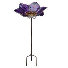 Regal Art and Gift Birdbath/Feeder with Stake, Purple