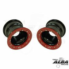 TRX 450r 400ex 300ex  Rear Wheels  Beadlock  9x8 3+5 4/110  Alba Racing  Blk/red