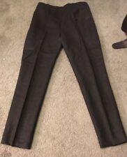 PEACHOO + KREJBERG France Black Cotton Side Zip Flat Front Crop Pants Sz.40/US 8