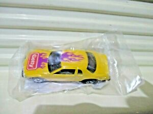 Mattel Hot Wheels 1990 GETTY GAS PROMO YELLOW THUNDERBURNER Car New in Polybag