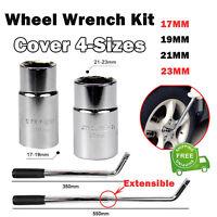 Extendable Wrench Car Nut L-Shaped Tyre Socket Wheel Brace 17 19 21 & 23mm