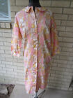 vintage Sears pastel flower robe duster button front found with tags size M