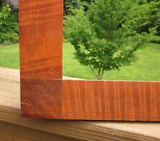 c1840 Rare Large Tiger Maple Walnut Corner Block Sampler 14 x 18 Folk Frame