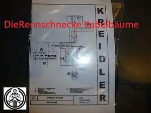 Kreidler Flory 20 Kabelbaum Kabelsatz Nachbau incl. farbigem Schaltplan