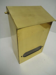 Vintage Brass or Copper Wall Mount Mailbox Made In USA Nice Quality