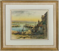 Framed 20th Century Watercolour - Newlyn, Cornwall
