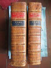LES OEUVRES MORALES ET MESLEES DE PLUTARQUE + VIE DES HOMMES ILLUSTRES, 1575.
