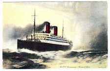 RMS CARMANIA (1905) Post Card -- Cunard Line