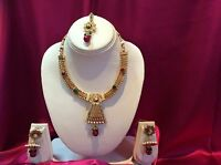 Bollywood Indian Bridal Necklace Earrings Jewellery Party Wear Antique Gold Tone