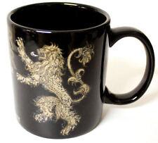 NEW Game of Thrones LANNISTER Hear Me Roar Black / Gold Coffee / Tea Ceramic Mug