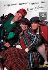 1987 ESTELLE LEFEBURE HALLYDAY for ENRICO COVERI Italian  Print Ad