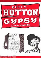 "Betty Hutton (Signed) ""GYPSY"" Bernadette Peters / Stephen Sondheim 1962 Program"