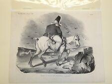 19 c. DAUMIER LITHOGRAPH Voyage à Travers Les Populations Impressées