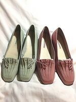 Enzo Angiolini - Lauralee - Leather Flats Loafers Slip On Shoes - You Pick USED
