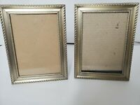 "BURNES OF BOSTON Pewter Ornate Metal Picture Frame 6x8"" set of 2"