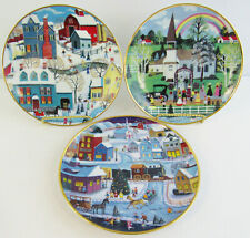 "Lot of 3 Wooster Scott & Steven Klein ""The American Folk Art Collection"" Plates"