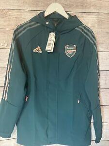 Adidas Arsenal Travel Jacket Mens SZ SM New Retail $110