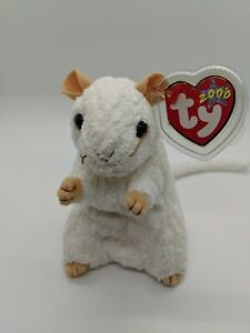 Cheezer, Beanie Babies,Mouse, 2000,  New With Tags, PE pellet fill