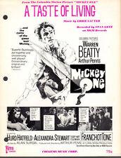 TASTE OF LIVING Music Sheet-1965-Piano Solo/SAUTER-MICKEY ONE-WARREN BEATTY