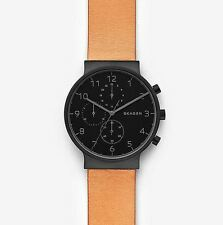 Skagen SKW6359 Brown Leather Gents Watch, 40mm Case, 3 ATM RRP $345
