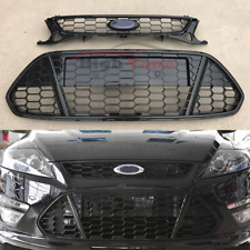 Front Bumper Upper&Lower Honeycomb Grille Grill Fit For Ford Mondeo 2011-2013