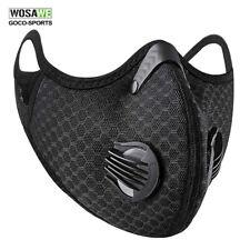 Многоразовый угольный Велоспорт Activated половина лицевым щитом с фильтром пылезащитный шарф