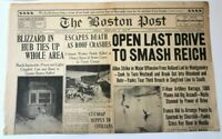 The Boston Post Newspaper 1945 World War 2