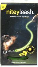1 Ct Nitey Leash 5 Ft Neon Green Fiber Optic & LED Light Up End To End Leash