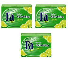 ( 23,20€/kg ) 3x 100g FA REFRESHING Lemon Jabón Fija Bloque de Limón Juego 3