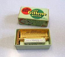 1930's Gillette New Standard Goodwill Razor Set in box USA