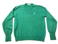 Lyle & Scott Preston Trail Mens Green Long Sleeve V-Neck Sweater Size Large