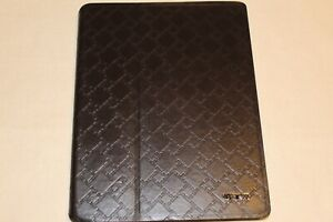 "new TUMI LEATHER SNAP CASE for IPAD dk. BROWN 9.7""x7.5""x0.5"""