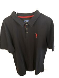 Star Wars Mens Large Polo Hans Solo Black Shirt Cotton Collectible NWT
