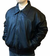 REVERSABLE GENUINE LAMB LEATHER COAT JACKET WITH WARM LINING MADE IN TURKEY, L