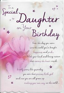 SPECIAL DAUGHTER  BIRTHDAY CARD***REGAL PUBLISHING***9 X 6.5 INCHES***N6.