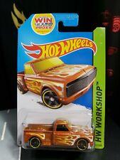 2020 Hot Wheels '69 Chevy Pickup Truck Green w//Real Riders SUPER CUSTOM