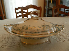 Brown Westhead Moore Albion Gold Highlights & Trim Covered Oval Tureen Green 8-1