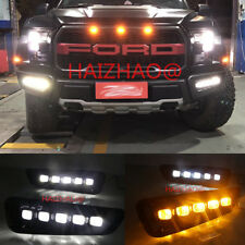 Exact Fit Switchback LED DRL Lights w/ Turn Signals For Ford F150 Raptor 2016-18