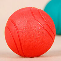 Solid Indestructible Rubber Ball Pet cat Dog Training Chew Play Fetch Bite Toys