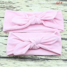 2pcs Women Kids Girls Mother Daughter Rabbit Bow Knot Turban Headband Hair Band