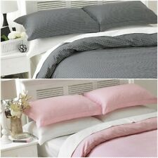 NEW GINGHAM CHECK DUVET COVER SET WITH PILLOWCASES QUILT BEDDING SETS KING SIZE