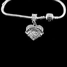 Pharmacist Bracelet  Pharmacist jewelry  pharmacist gift  Crystal Heart jewelry