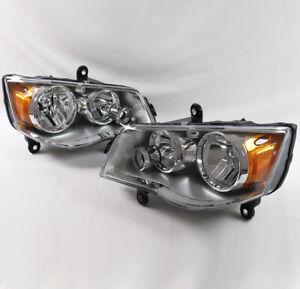For 08-16 Chrysler Town&Country/11-19 Dodge Grand Caravan Headlight Chrome Used