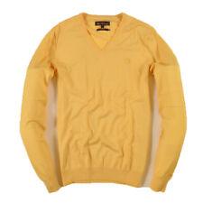 Ben Sherman Herren V-Neck Pullover Sweater Gr.L (wie M) Merino Wolle Gelb, 35303
