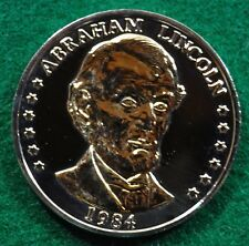 Challenge Abraham Lincoln 1809-1984 175th Anniversary Bronze Coin NEW in CASE