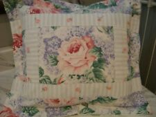 Hand M.Custom Cottage chic Pillow case vintage lilac pink rose fabr. 1 of a kind
